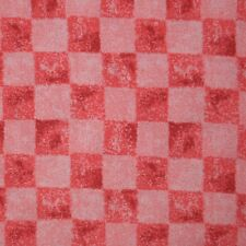 Quilt Fabric Cotton Calico Quilting Watermelon Pink Check Print: FQ 17x21