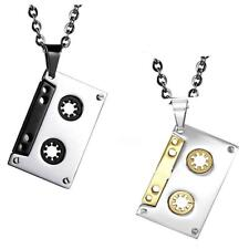 Jewelry Silver Tone DJ Tape Pendant Hip Hop Ball Chain Bling Necklace Rapper