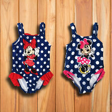 Girls Kids Toddlers Cartoon Minnie Mouse Polka Dot 2-5Y Swimsuit Swimwear Bikini