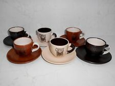 Brand New Set of Ceramic Coffee Cups with Saucer 6 pcs. or 2 pcs. on choice