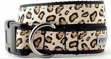 Cheetah Tan Sparkly Animal Print Dog Collar and/or Leash Sizes XS,S,M,L,XL Diva