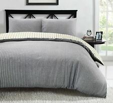 100% Cotton Duvet Cover Bedding Set Quilt Jakarta Woven Yarn Dyed Cream Chambray