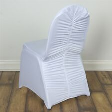 100 pcs Ruched SPANDEX BANQUET CHAIR COVERS Wedding Supplies