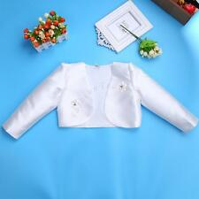 3D Flower Girls Bolero Shrug Short Cardigan Jacket Bridesmaids Party Communion