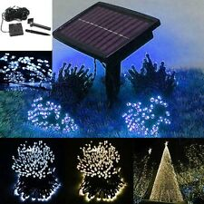 100 200 LED String Solar Battery Lights Outdoor Garden Party Fairy Tree Lamp BS