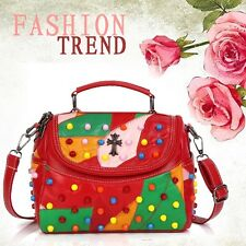 Leather Sheepskin Messenger Shoulder Crossbody Brand Designer Colorful Handbag