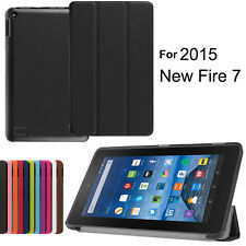 "Ultra Slim Leather Folio Stand Shell Case Cover for Amazon Kindle Fire 7"" Tablet"