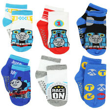 Thomas and Friends Boys 6 pack Gripper Socks (Toddler) TE021EQS