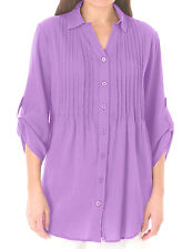 New Woman Within plus size 22 26 32/34 36/38 Lilac pintuck blouse top