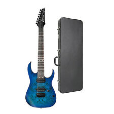 Ibanez RG Series RG7421PB 7-String Electric Guitar in  Blue with Case