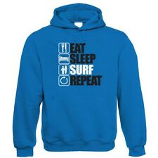 Eat Sleep Surf Repeat Hoodie - Surfing Gift for Him Dad
