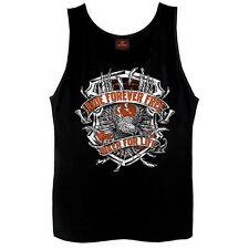 Ride Forever Free Tank Top Biker For Life Sleeveless Eagle Motorcycle Biker
