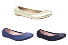 Greatonu Womens Elastic Cap Toe Ballet Flat Slip On Ballerina Shoes Leather Size