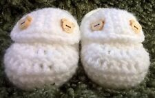 Handmade Crochet / Knit Baby Unisex Loafer Style Shoes / Booties 4 Sizes
