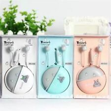 New Cute Totoro Earphones 3.5mm in-ear Stereo with mic Earphone Case Universal f