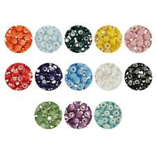 Wholesale 100pcs Solid Color Round Ceramic Porcelain Loose Spacer Beads 6mm