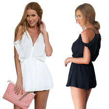 Rompers New Short Strap Beach Fashion Sexy Women V-Neck Summer Jumpsuits