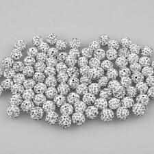 100pcs Diamante Crystal Pave Clay Ball Spacer Beads for Beading Jewelry Making