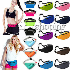 Unisex Zipper Sports Fanny Pack Belly Waist Bum Bag Running Cycling Belt Pouch
