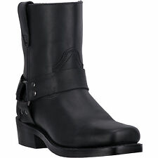 Dingo Mens Black Full Grain Leather Rev-Up 7in Snoot Toe Cowboy Boots