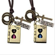 Fashion Couples Bible Pendants Love Copper Hourglass Witness Love Necklace
