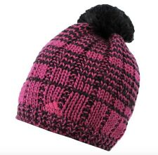 Adidas Women's Beanie Hat Cap Black or Pink Wool new with tag