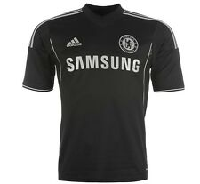 Adidas Chelsea FC London Away 3rd Jersey Black 2013 2014 Size S up to XXL New