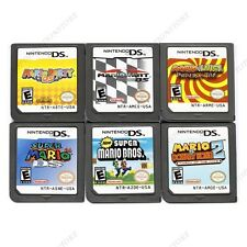 6Pcs MARIO Game Card Child Children Gift For Nintendo DS NDS DSI 3DS Version US.