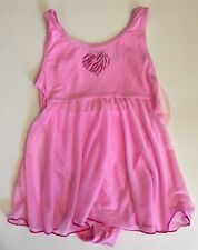 Jacques Moret Girl Dance Tank Babydoll Skirtall Size Med 8/10 Sugar Pink New