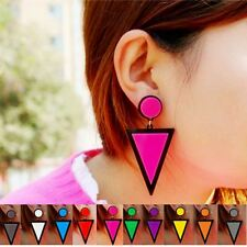 New Fashion Casual Colorful Triangle Shape Stud Earrings For Women