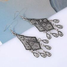 Zinc Alloy Fashion Party Wear Gold And Silver Color Long Earrings For Women