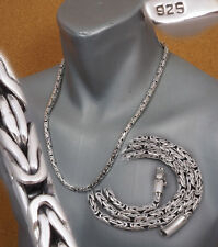 "5mm WOVEN BALI BYZANTINE 925 STERLING SILVER MENS NECKLACE CHAIN 20"" 22 24 26 30"