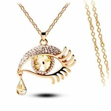 New Summer Fashion Ethnic Eye Tear Long Chain Pendant Necklace For Women