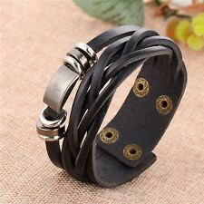 Women Black Brown Color Simple Style Pu Leather New Fashion Bracelet