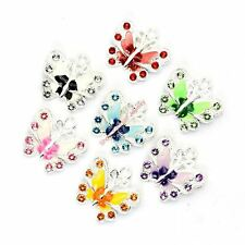 7pcs/lot Silver Plated Crystal Decorative Pendant Charms For Jewelry Making