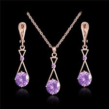 New Design Gold Color Pendant Necklace and Earring Jewelry Set For Women