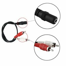 3.5mm Stereo Audio Mic Y Splitter Cable Headphone Adapter Female To 2 Male SW