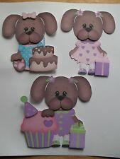 3D-U Pick - BD3 Birthday Party Puppy Dog Kitten Cat Scrapbook Card Embellishment