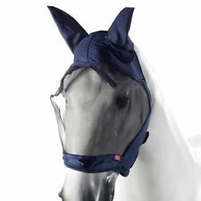 Horze Full Coverage Navy Cayman Velcro Closure Fleece Lined Fly Mask