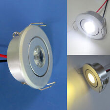 1x/10x 1W LED Ceiling Down Light Cabinet lights Recessed Lamp Warm/White New