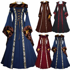 HOT Women's Renaissance Medieval Costume Pirate Peasant Wench Victorian Dresses