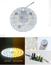 12W 24LEDs SMD LED Module White/Warm Replace ceiling lamp light source 110-240V