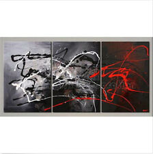 Framed New 3PC Oil painting Abstract Wall Parlor Bedroom With Modern Art Canvas