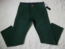 SEAN JOHN CHINO PANTS MENS SIZE 34X34 ZIP FLY DARK GREEN COLOR NEW WITH TAGS