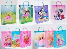 "Set of 2 or 3 Reusable Large Plastic Gift Bag Party Tote 15"" Variety of choice"