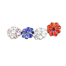 wholesales lot 4colors 18-20mm  Rhinestone FLOWER  snaps chunk buttons MDB18-146