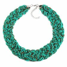 Fashion Multilayer Beads Statement Choker Necklace For Women JEY010