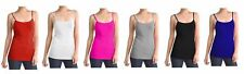PLUS SIZE NWT Women's Ladies Solid Colors Poly Cami Camisole Tank Top (6 PACK)