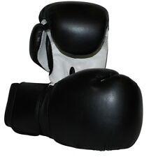 Black Boxing Gloves for Sparring/Competition, Bonded Leather with Air Maxx Palm