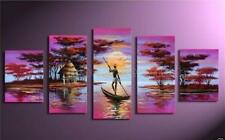 Abstract Huge Oil Painting 5PC Hand-Painted Modern Canvas With Framed Handcraft